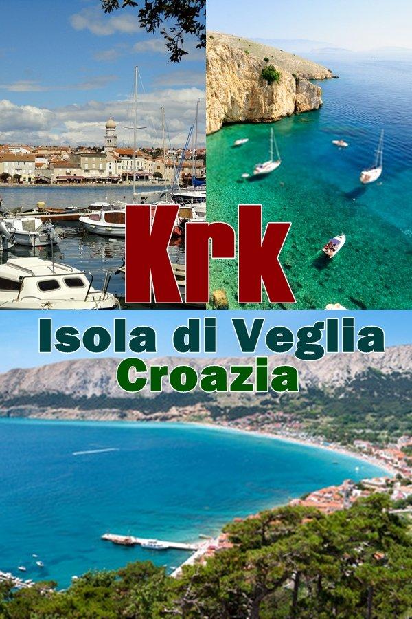 L' isola di Krk (Isola di Veglia) é la più grande isola nella catena delle mille isole che costeggiano la costa della Croazia.