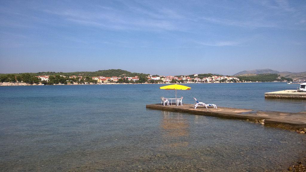 Mappa Croazia isole. Krapanj è una delle più piccole isole abitate del Mare Adriatico