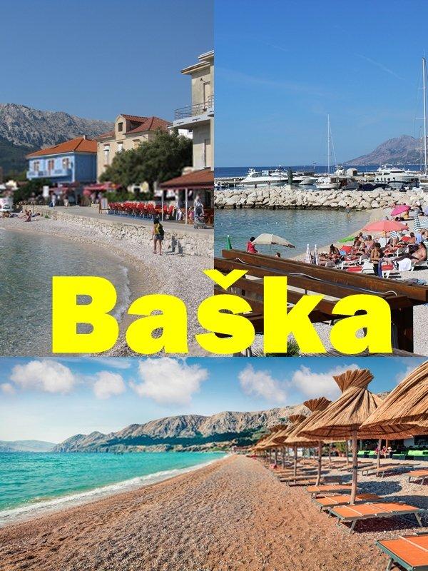 La località più spettacolare di Krk, e quella con la migliore spiaggia, è Baška, sulla punta meridionale dell'isola