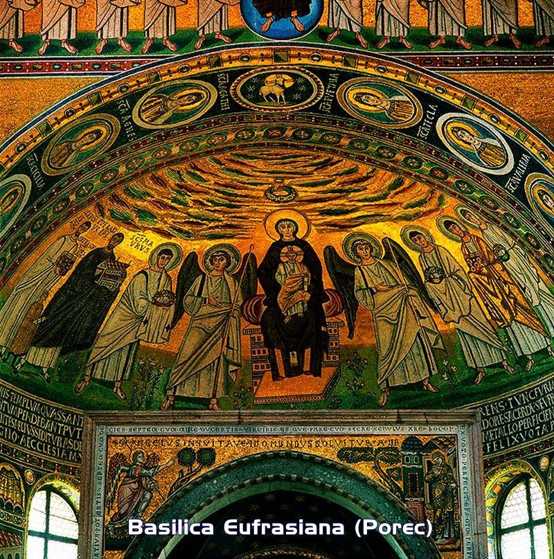 La Basilica Eufrasiana è una delle più importanti opere dello stile bizantino-ravennate dell'intera regione adriatica.